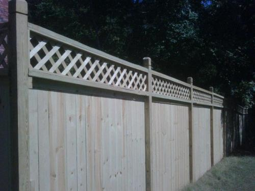 Wood fencing Houston
